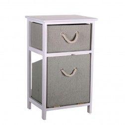 Mueble 2 cestas blanco laundry mimbre en cestas muebles y cestos de mimbre en www - Cestos de mimbre blanco ...