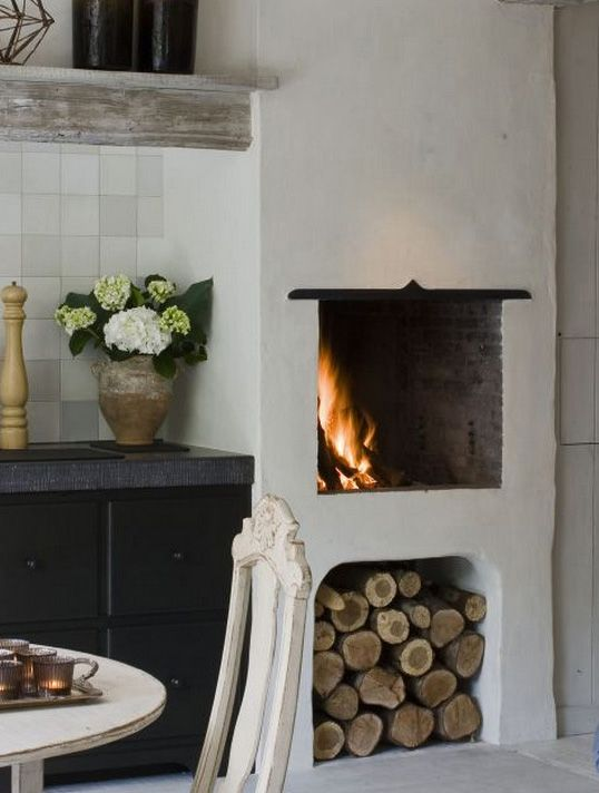 Fireplace, belgian architecture: