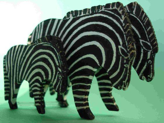 Holz Zebras, wood zebra