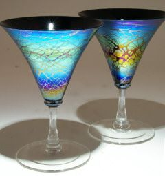 Glass art from Kela's Gallery ::  beautiful wine or martini glasses ::   #artglassserendipity  This is a FANTASTIC SHOP I have visited on Kauai, wonderful items.