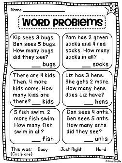 First Grade Math Unit 3 Addition To 10 Addition Words Word Problem Worksheets First Grade Math