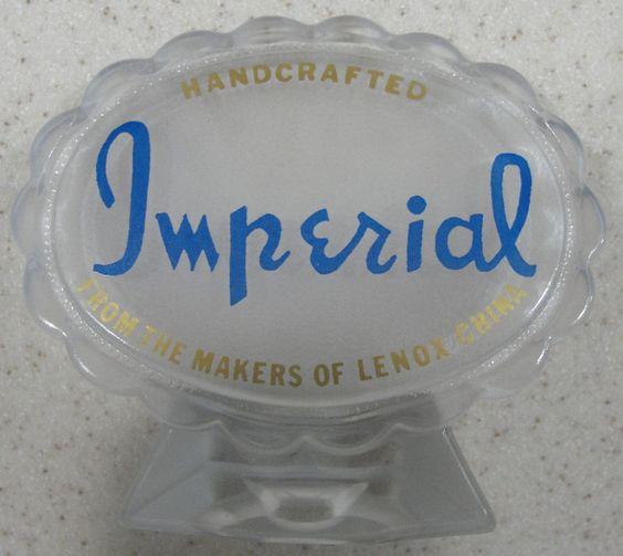 Vintage Imperial Glass ~ Sales / Dealer Advertisement Signage  #Imperial
