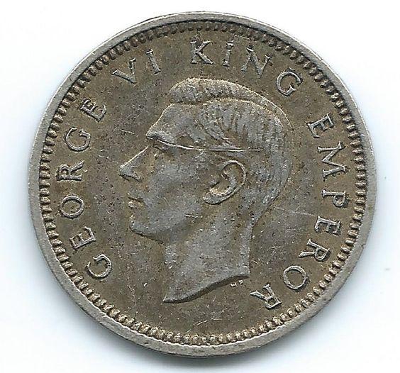 New Zealand 3 Pence King George 1943 https://ajunkeeshoppe.blogspot.com/