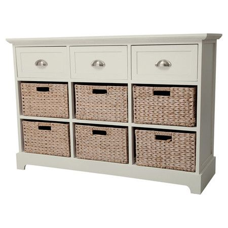 gallery for console table with storage baskets