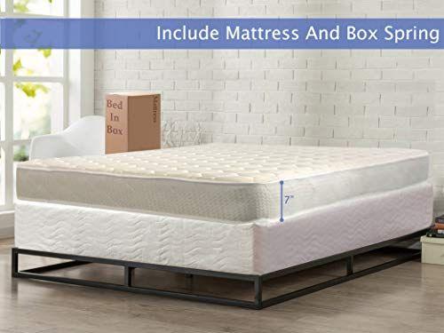 Nutan Medium Firm 7 Inch High Density Poly Foam Mattress And 8 Inch Unassembled Wood Boxspring Foundat Beige Bedroom Furniture Mattress Foam Mattress