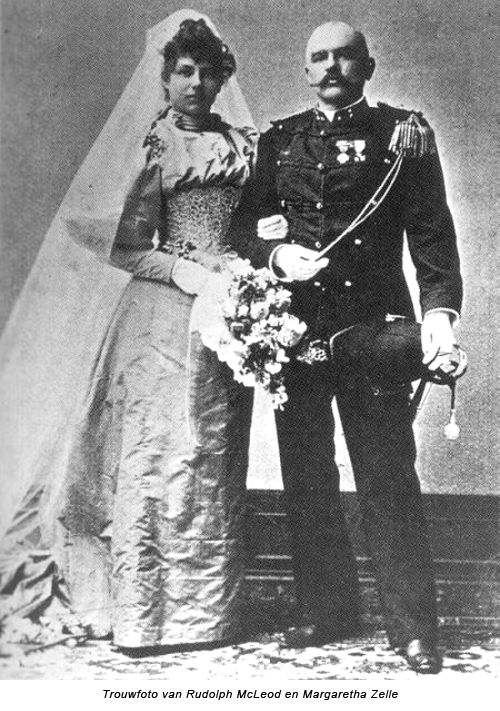 Wedding photo of Margaretha Zelle and Rudolf MacLeod on June 7, 1895