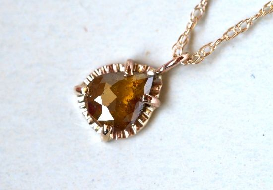Brown Olive Diamond Necklace - lily & co. jewelry