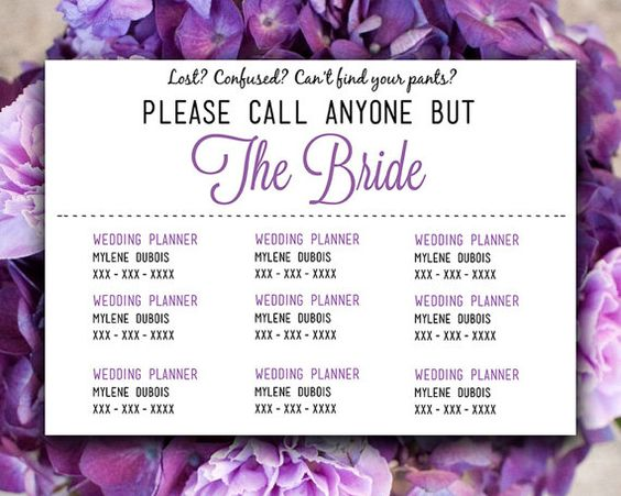 DIY Wedding Information Card Template  - contact card template for word
