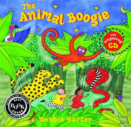 Animal Boogie - link to story song on Youtube:  www.youtube.com/watch?v=25_u1GzruQM Would be very cute for kinders and maybe even 1st, 2nd.