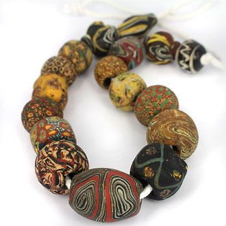 SKJ ancient bead art | item description | foldedglassmosaic1