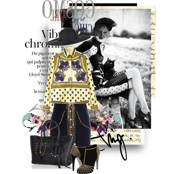 Mysterious Lady by pocaqooka on Polyvore featuring Mode, Opening Ceremony, Sergio Rossi, Alexander McQueen,…