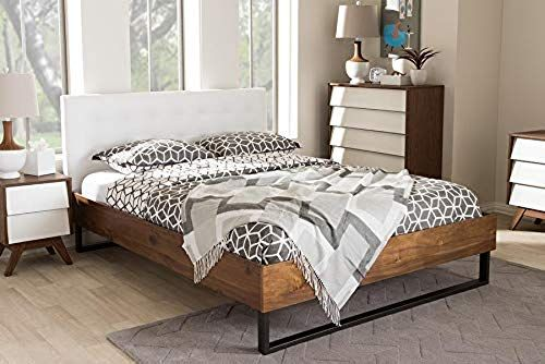 Amazing Offer On Industrial King Platform Bed Leatherette White