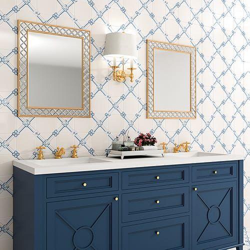 Gelosia Glazed Ceramic Tiles 6x6 In 2020 Ceramic Tile Backsplash Glazed Ceramic Tile Bathroom Inspiration