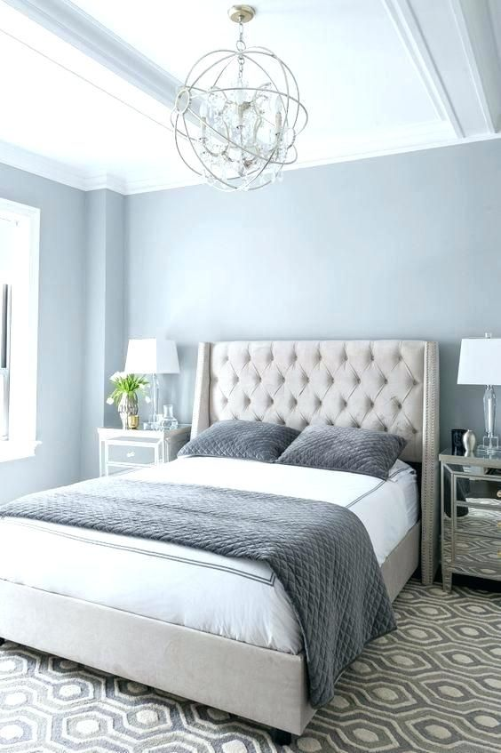 Light Blue Walls With Gray Headboard Google Search Master Bedroom Colors Master Bedroom Remodel Master Bedrooms Decor