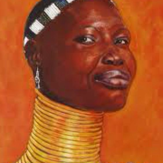 African Women With Rings Around Neck