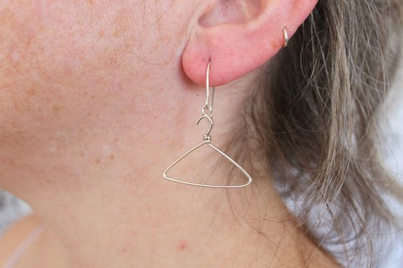 Sterling silver earrings  NO More Wire Hangers by tladesigns, $34.00