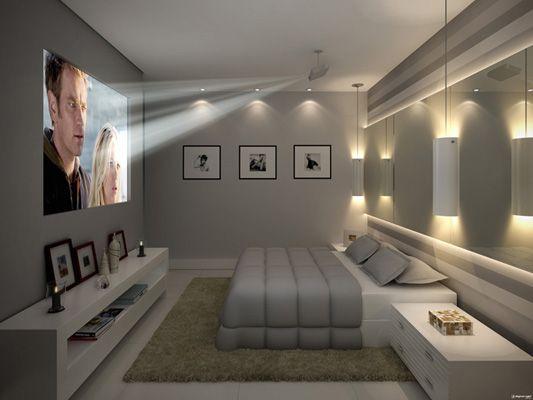 寝室 テレビ プロジェクター コーディネート例