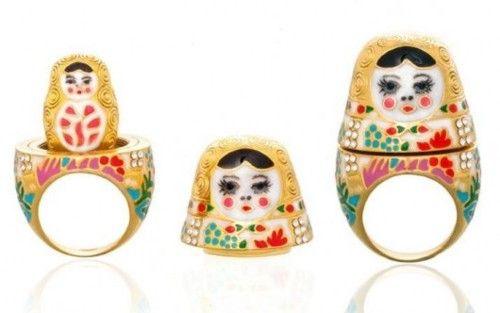 Nesting Doll Ring, #ring, #jewelry