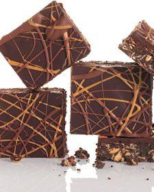No-Bake Chocolate and Peanut Butter Oatmeal Bars - Martha Stewart Recipes