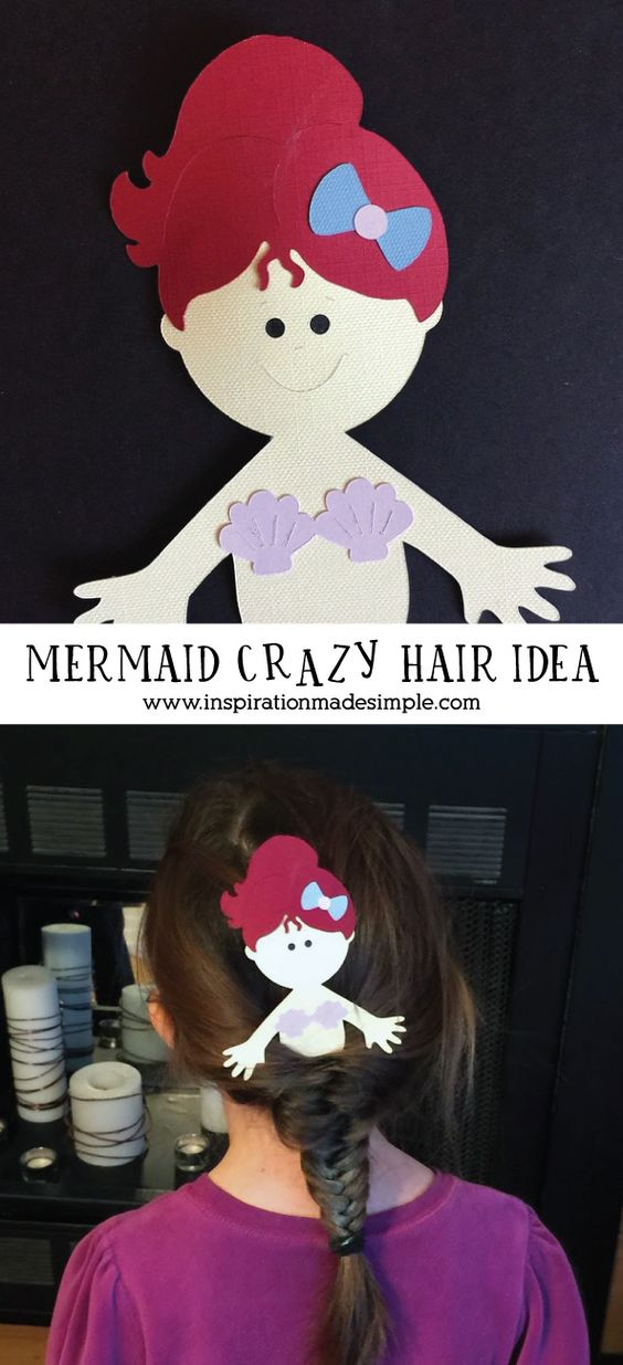 Mermaid Crazy Hair Day Idea
