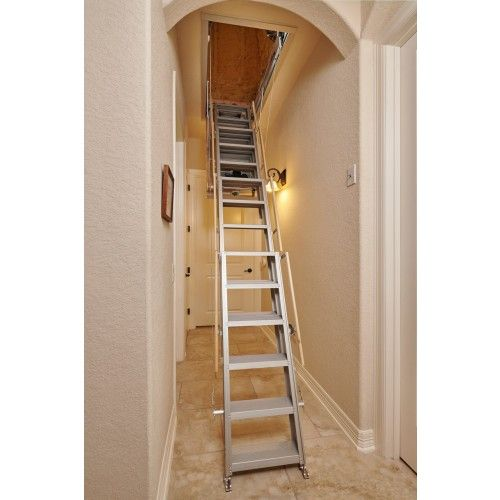 One Touch Electric Attic Stairs 500 Lb Capacity In 2020 Attic Ladder Attic Stairs Attic