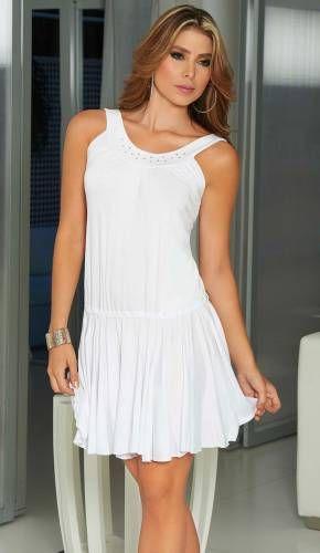 Flowing Skirt White Dress