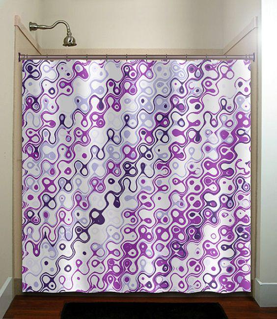 eggplant purple violet aubergine shower curtain bathroom decor fabric kids bath window curtains panels valance bathmat. Showers  Violets and Curtains on Pinterest