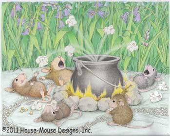 House Mouse stamp: