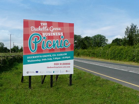 Carlow County Enterprise Board - Business Picnic Road Sign