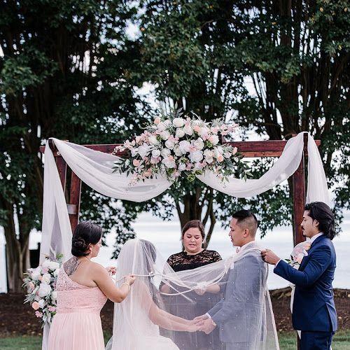 Art Deco Glam Wedding With Big Brass Band Wedding Ceremony Arch