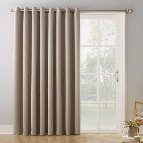 100 X84 Kenneth Extra Wide Blackout Window Curtain Panel Sun Zero Sliding Door Curtains Door Coverings Patio Door Curtains