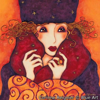 Affiche Corinne REIGNIER Lara 70 x 70 cm - Blueart