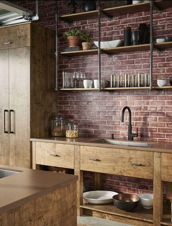Industrial Kitchen Ideas 20 Simple Easy Diy Decors On A Budget Famedecor Com Rustic Kitchen Kitchen Remodel Rustic Kitchen Design