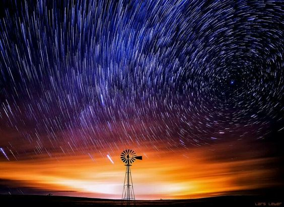 Lars Leber Photography FB  Startrails and a Windmill in eastern El Paso County.My first try at a star trails photo. This is a combination of 41 thirty-second exposures. Like I said, a first try. I have still a lot to learn here. Something else to do at night... Photo Galleries:http://larsleber.net/f58297464