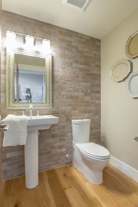 Our Calgary showroom worked on this stunning house project. This bathroom features our Brick series.