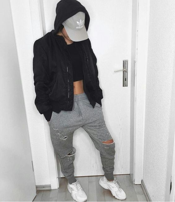 Tomboy swag Adidas cap and Fall winter outfits on Pinterest