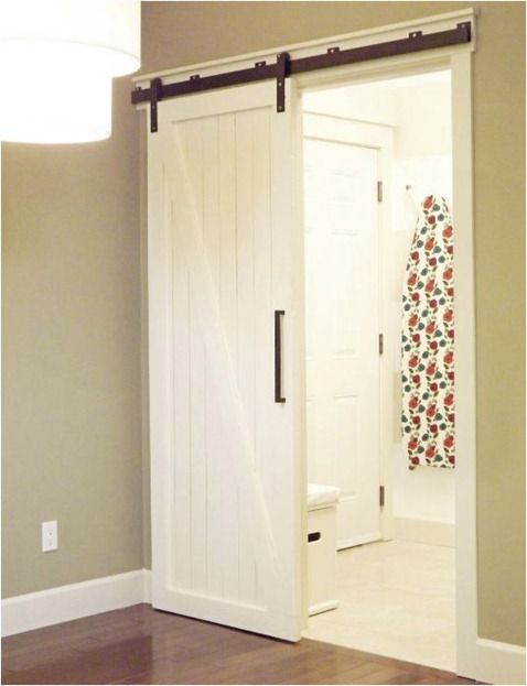 Instead of hiding a sliding door inside a wall, why not this way? Saves the trouble for repares, too.