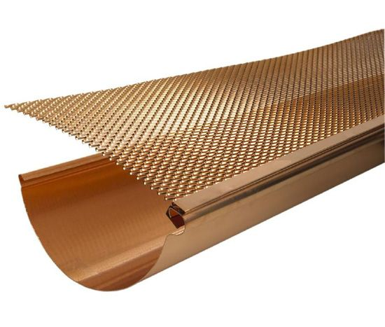 Gutter Screen Fits Into The Front Lip Of Our Gutter And Slides Under The First Course Of Shingles Available In Two Width Copper Gutters Gutter Screens Gutters