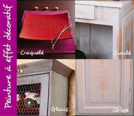 effet d coratif peinture craquel chaul c ruse glacis tendance diy mobilier pinterest. Black Bedroom Furniture Sets. Home Design Ideas