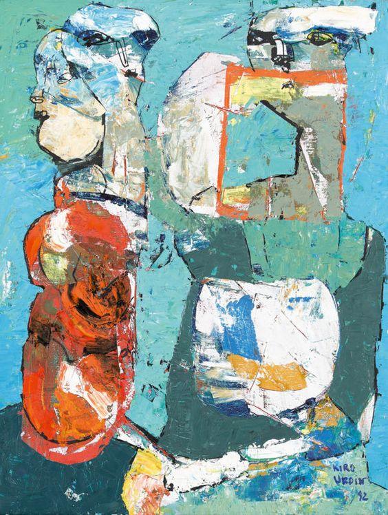 Kiro Urdin:  Komposition mit Figurenpaar (1992)