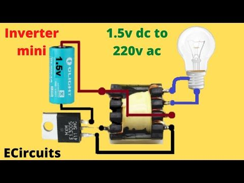 Mini Inverter 1 5v To 220v Dc To Ac Inverter Youtube In 2020 Electrical Engineering Technology Energy Technology Electrical Engineering