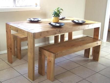 I am so going to build this.... but I only want one bench and then 4 chairs!!! This is gonna be fun!