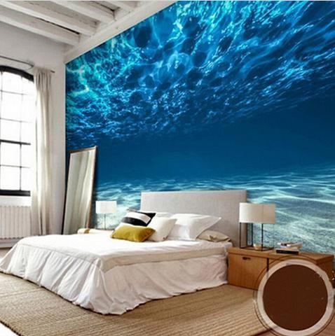 3d Underwater Deep Sea Wallpaper For Walls Wall Mural Einrichtungsideen Schlafzimmer Wandbilder Schlafzimmer Fototapete