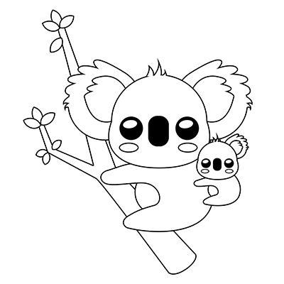 Como Dibujar Un Koala Kawaii Comodibujar Club Dibujos Kawaii De Animales Dibujos Kawaii Dibujos