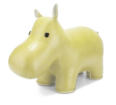 Cream Hippo Bookend