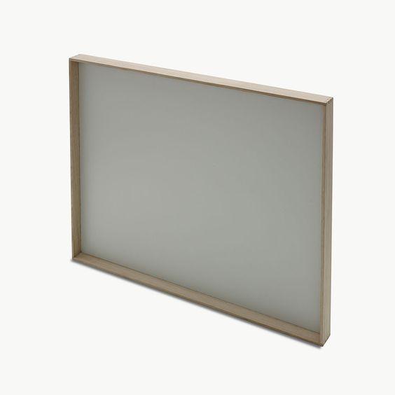 Planche magnétique Notice, chêne/blanc argenté - Søren Refsgaard - Skagerak - RoyalDesign.fr