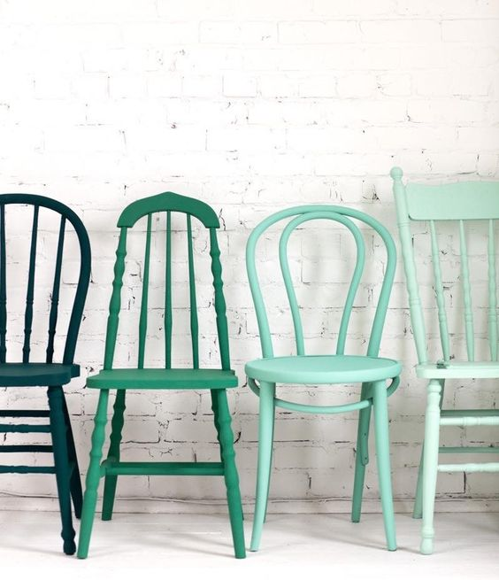 Jazz up old dining chairs with a splash of colour to add much style to your home dining.