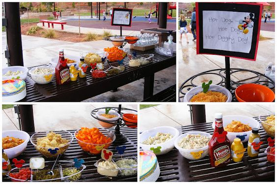 Mickey Mouse Clubhouse Birthday theme! Hot dog bar!