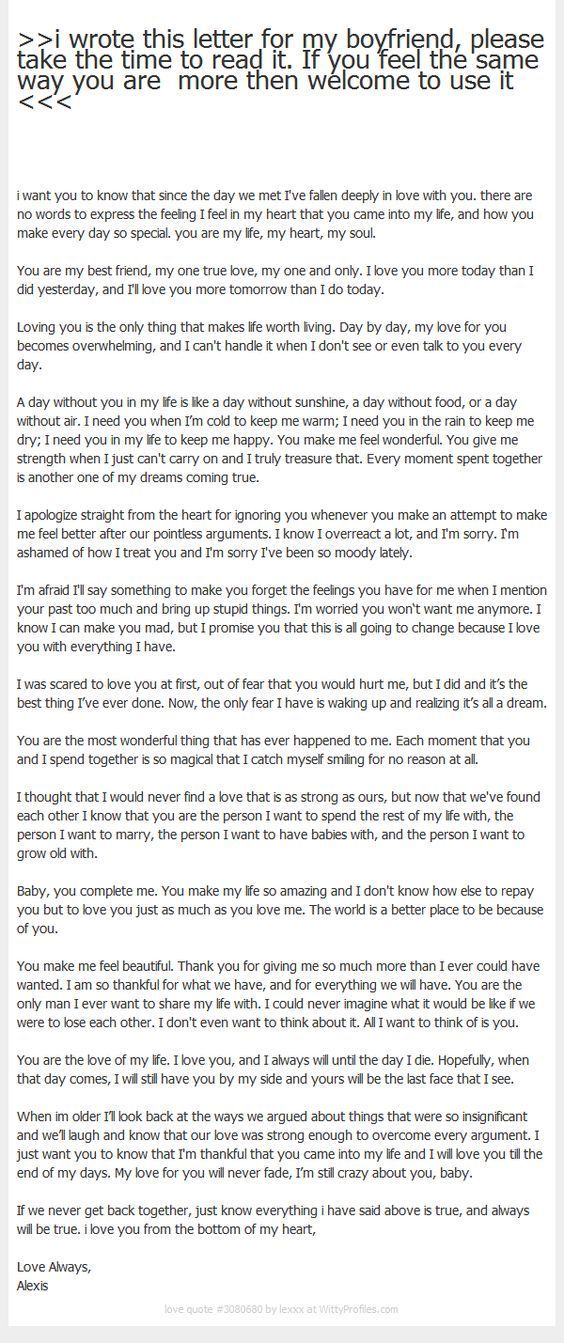 I Wrote This Letter For My Boyfriend Please Take The Time To Read It If You Feel The Letter To My Boyfriend Letters To Boyfriend Love Letter For Boyfriend
