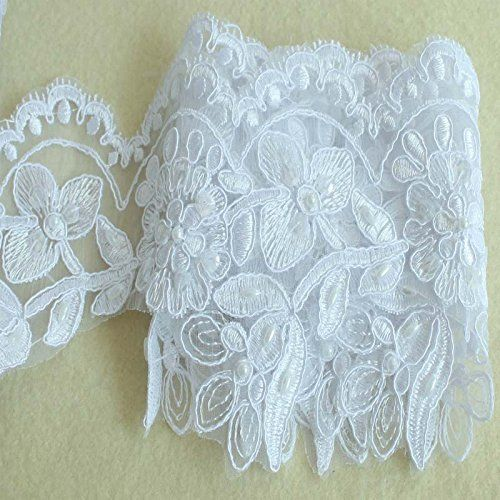 120 Mm Width Diy Applique Sewing Craft Lace Trim Flower Wedding ...